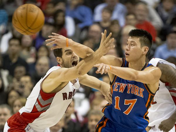 New York Knicks star Jeremy Lin (shown here during first-half action against the Toronto Raptors on Tuesday) has taken the NBA by storm. Now, Chinese basketball fans are claiming the California native as their own.