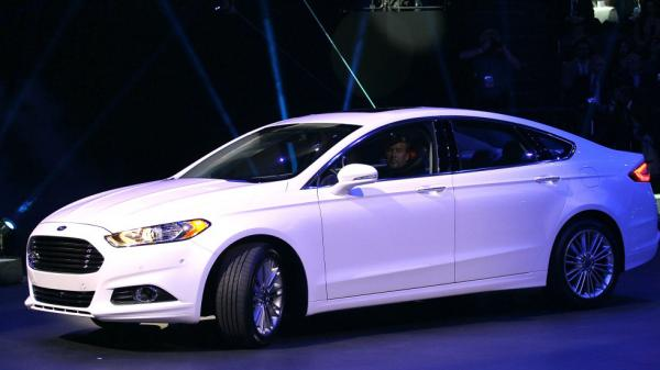 For the second year in a row, the Ford Fusion won J.D. Power's dependability prize in the mid-size sedan category. Pictured is the 2013 model of the car, unveiled in January.