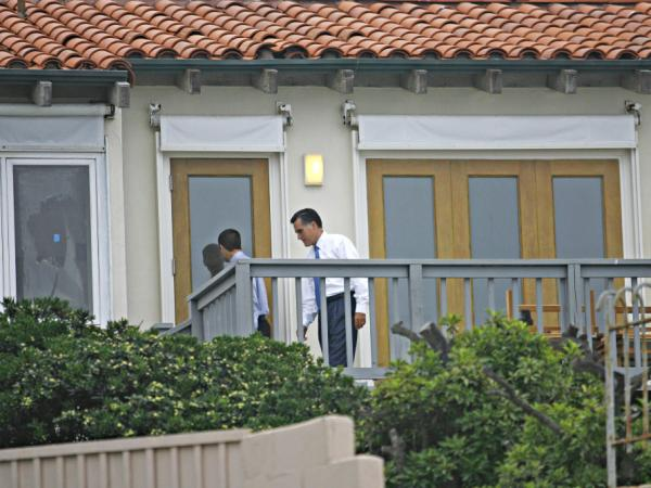 Mitt Romney at his beach house in La Jolla, Calif., in 2008.