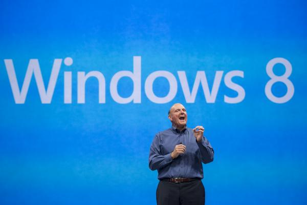 Microsoft CEO Steve Ballmer comments on the Windows 8 operating system before unveiling Surface, a tablet computer to compete with Apple's iPad.