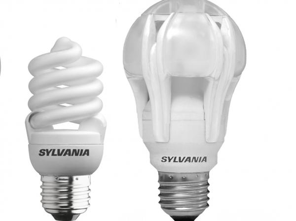 Scientists say energy-saving compact fluorescent (left) or light-emitting diode (right) light bulbs can have unsavory health effects.