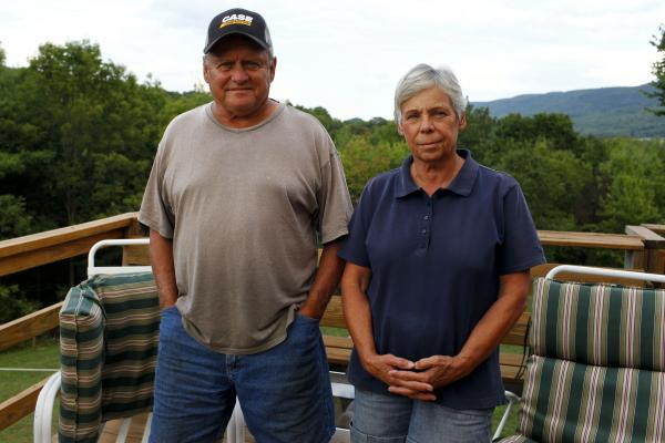 Mike and Nancy Leighton live in Leroy Township, Pa., where residents have been dealing with flammable gas puddles and tainted well water.
