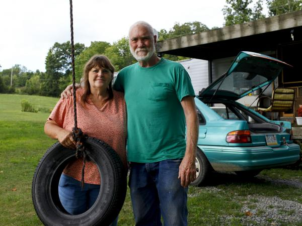 Ted and Gale Franklin live in Leroy Township, Pa., where people have been dealing with flammable gas puddles and tainted well water.