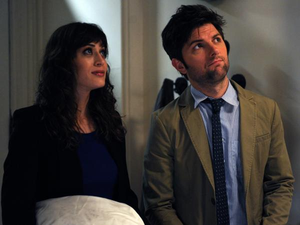 Gena is torn up about re-encountering her high-school love, Clyde (Adam Scott, Caplan's <em>Party Down</em> co-star).
