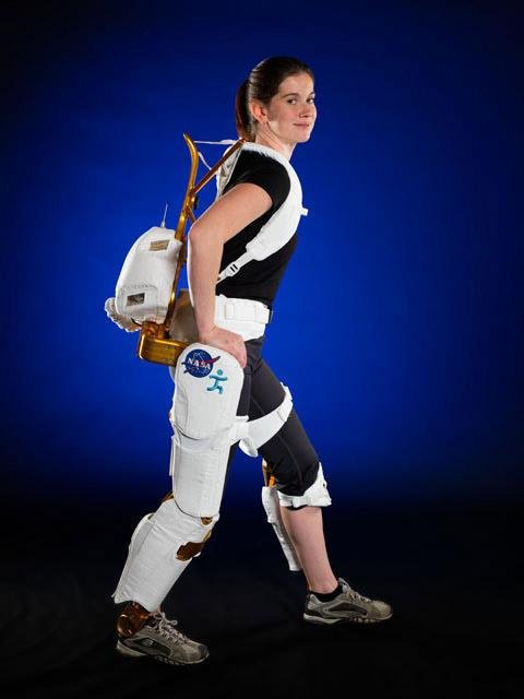 NASA recently announced the development of an exoskeleton for paraplegic rehabilitation use and astronaut strength training. NASA engineer Shelley Rea demonstrates the X1 Robotic Exoskeleton for resistive exercise, rehabilitation and mobility augmentation.