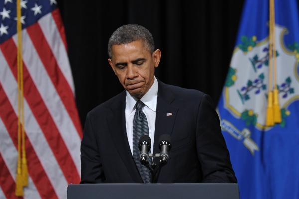President Obama speaks at a memorial service for the victims of the shooting in Newtown.