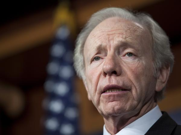 Sen. Joe Lieberman, a Connecticut independent, speaks on Capitol Hill last month.