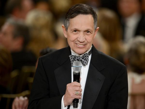Rep. Dennis Kucinich, D-Ohio, speaks in Culver City, Calif., in June.