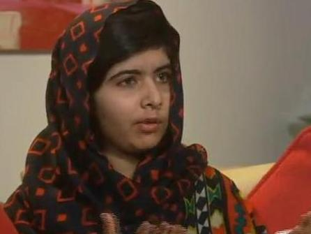 Malala Yousafzai in a video released Monday.