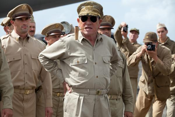 Gen. Douglas MacArthur (Tommy Lee Jones) may be the biggest military brass in <em>Emperor</em>, but he receives far less screen time than this larger-than-life persona deserves.