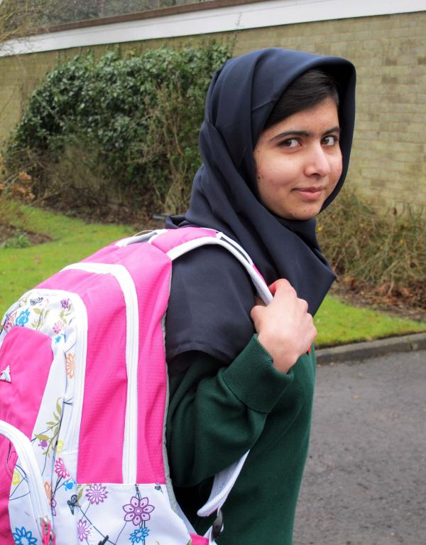 Malala Yousafzai, the Pakistani schoolgirl shot in the head by the Taliban, attends her first day of school on Tuesday just weeks after being released from the hospital.