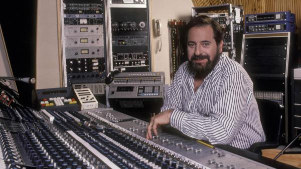 Phil Ramone in the studio in the 1980s.