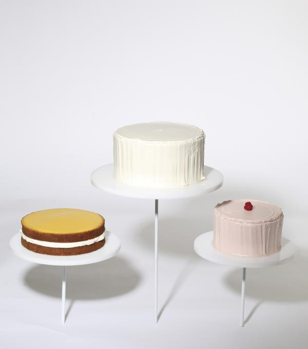 Freeman's take on Wayne Thiebaud's <em>Display Cakes</em>, the painting that inspired it all.