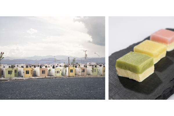 Alejandra Cartagena's photograph <em>Fragmented Cities, Juarez #2</em> was the inspiration for Freeman's Cartagena vanilla ice cream and sorbet trio.