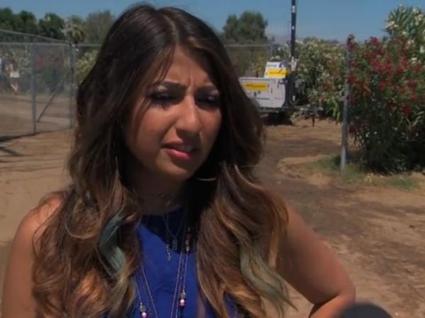 A woman attending Coachella is asked about bands that don't exist on Monday night's <em>Jimmy Kimmel Live</em>.