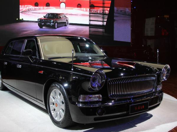 Among the exhibits was Red Flag, the Chinese auto brand famous for grand, black limousines favored by Communist Party leaders.