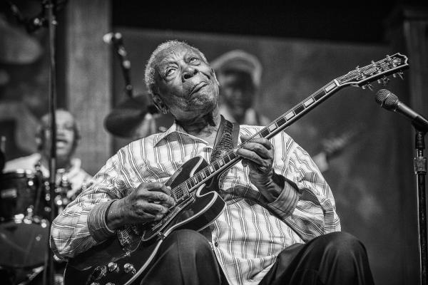 "<p>Skip Bolen says B.B. King is one of this year's most photogenic performers at the festival: ""He has such great expressions.""</p><p></p>"