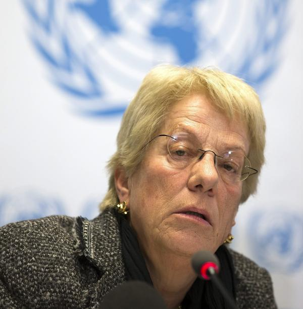 Carla del Ponte, a diplomat and prosecutor who now serves on the Independent International Commission of Inquiry for Syria.