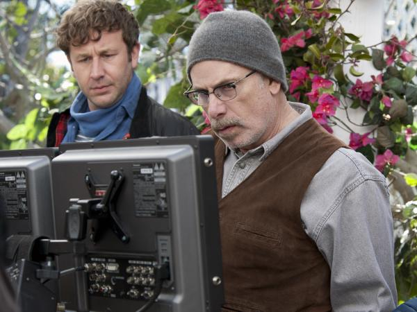 Chris O'Dowd (left) stars in <em>Family Tree,</em> a new HBO show from Christopher Guest (right) and Jim Piddock.