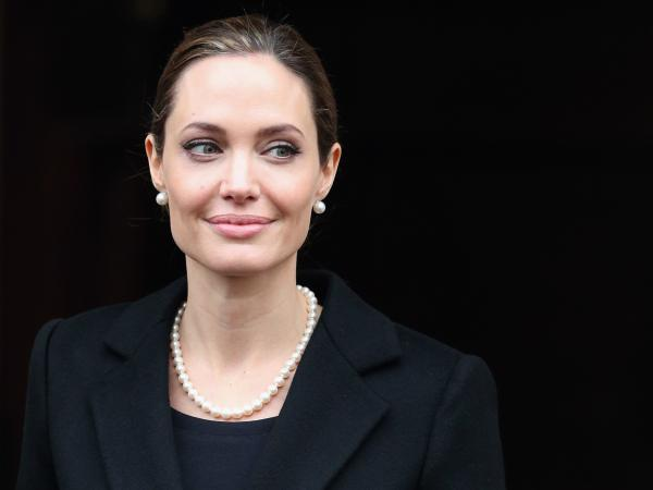 Angelina Jolie, seen here in April, wrote in <em>The New York Times</em> about her double mastectomy.