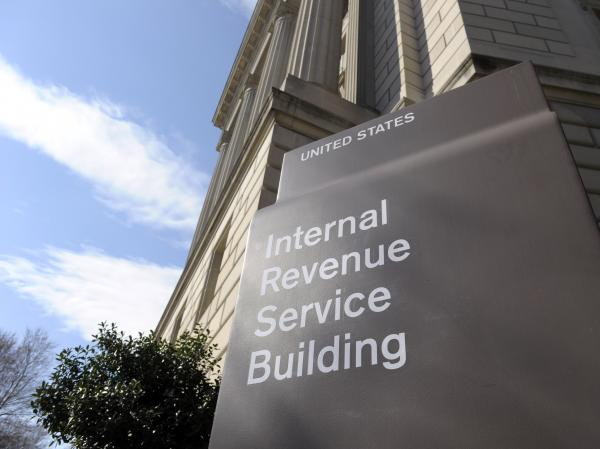 The exterior of the Internal Revenue Service building in Washington.