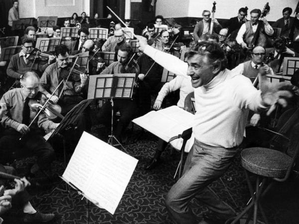 "Leonard Bernstein leads the London Symphony Orchestra. He called Stravinsky's famously savage <em>Rite of Spring </em>""extremely tuneful and dancy, rhythmically seductive, beguiling."""