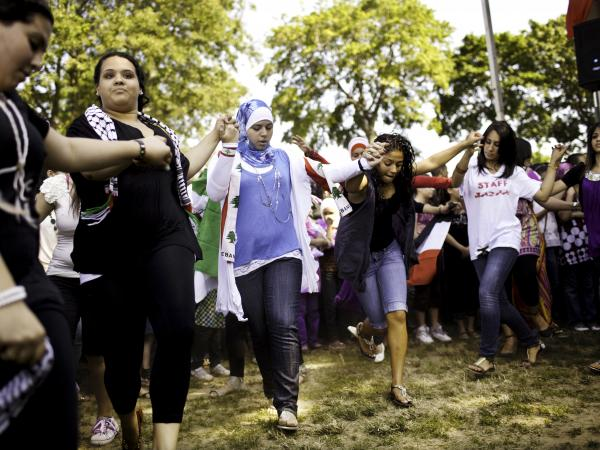Arab-Americans join in a traditional dance during the sixth annual Arab-American Heritage Festival in Brooklyn in 2011.