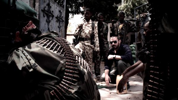 Reporter and author Jeremy Scahill, shown in Somalia, visited a range of conflict-plagued areas for the film <em>Dirty Wars, </em>an outgrowth of his writing on American anti-terrorism efforts abroad.