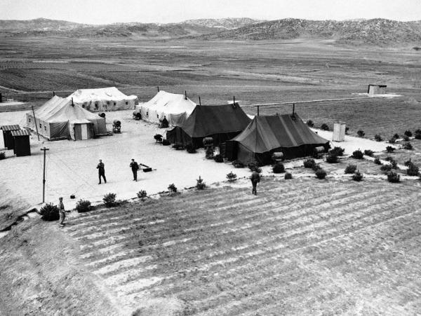 Tents at the Korean armistice conference in June 1951. Pyongyang stalled the talks by arguing over such minutiae as the height of chair legs.