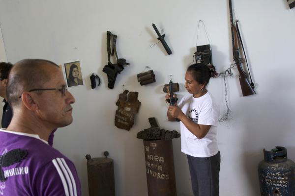 In El Pacer, Elizabeth Mueses is collecting items that she plans to display in this museum to ensure the war, and its victims, will not be forgotten.
