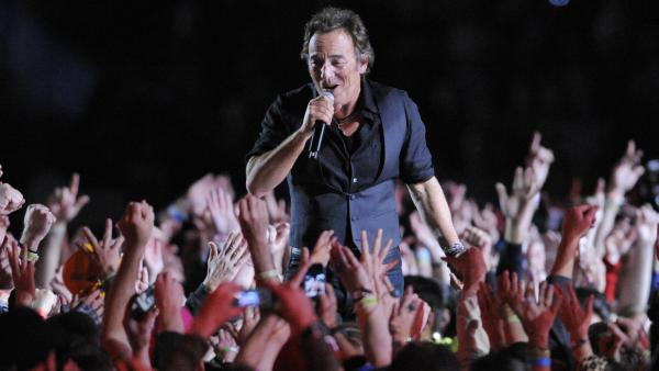 Bruce Springsteen performs during halftime of the Super Bowl in Tampa, Fla., in 2009. In music, and increasingly in other industries, a relative handful of top performers take more and more of the spoils, says White House chief economist Alan Krueger.