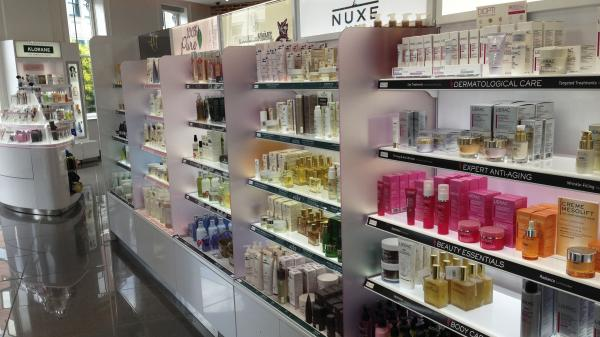 At the new flagship Walgreens in Washington, D.C., the beauty department features natural light and under-the-shelf lighting aimed at making the cosmetics look better.