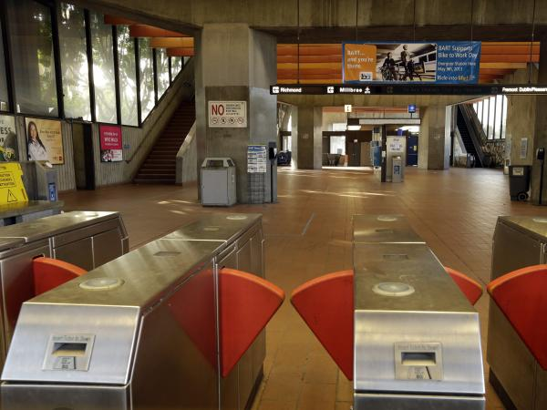 The Fruitvale BART station is closed Monday due to a strike in Oakland, Calif. Negotiations between unions and management broke off late Sunday despite the request of California Gov. Jerry Brown in a last-ditch effort to reach a deal.