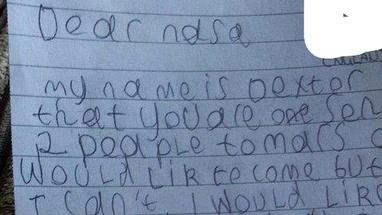 A boy's letter to NASA is making waves and softening hearts on the Internet today.