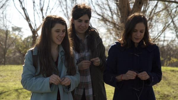 Chance encounters bring Viola (María Villar), Cecilia (Agustina Muñoz) and Ruth (Romina Paula) together in <em>Viola, </em>a lighthearted riff on Shakespeare from Argentine director Matias Piñeiro.