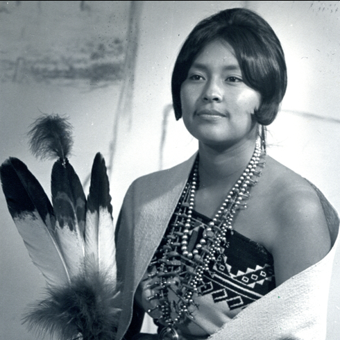 Wahleah Lujan of Taos Pueblo won the Miss Indian America title in 1966.