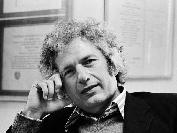 Author Joseph Heller in his publisher's office in New York City on Oct. 9, 1974.