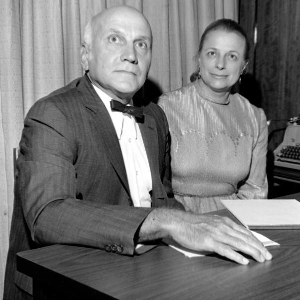 Virginia Johnson and her then-husband, William Masters, in 1972. They studied sexual behavior for decades. She died this week in St. Louis. Masters died in 2001.