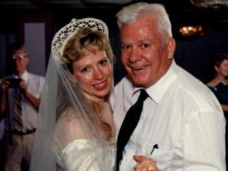 Barbara Mancini with her father, Joe Yourshaw.