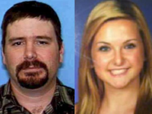 A combination of undated file photos provided by the San Diego Sheriff's Department shows James Lee DiMaggio, 40, left, and Hannah Anderson, 16.