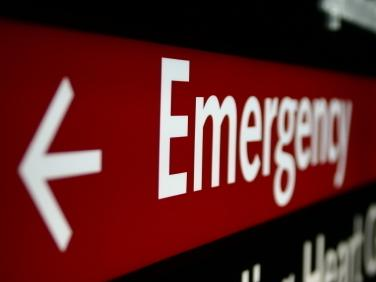 In case of emergency, go to the strip mall or the hospital?