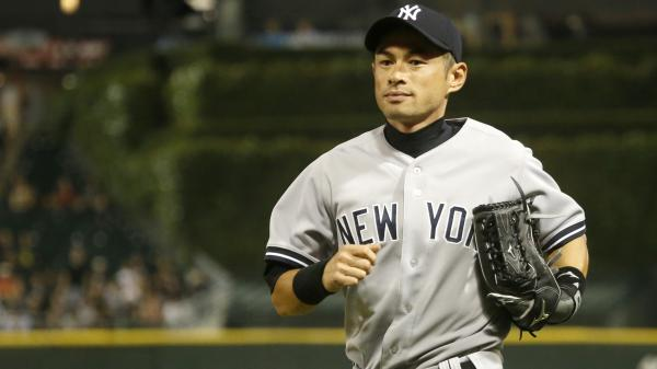 New York Yankees right fielder Ichiro Suzuki heads to the dugout during the ninth inning of a baseball game and 6-5 loss to the Chicago White Sox on Aug. 7 in Chicago.