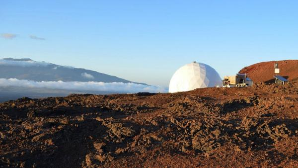 Mission to Mars: Six explorers lived in this simulated Mars habitat in Hawaii for four months, part of a NASA study to test the role of cooking and food on an extended space mission.