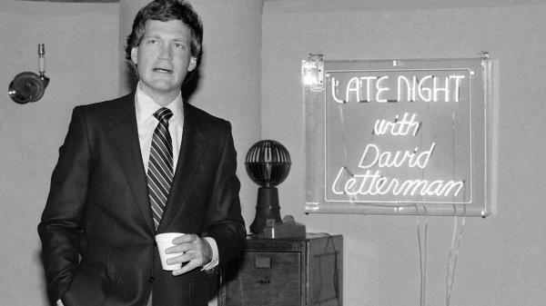 David Letterman, pictured here in January 1982, premiered <em>Late Night With David Letterman</em> just a few months after his <em>Fresh Air</em> interview.
