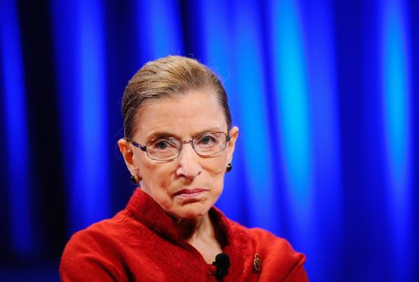 Justice Ruth Bader Ginsburg  in October of 2010.