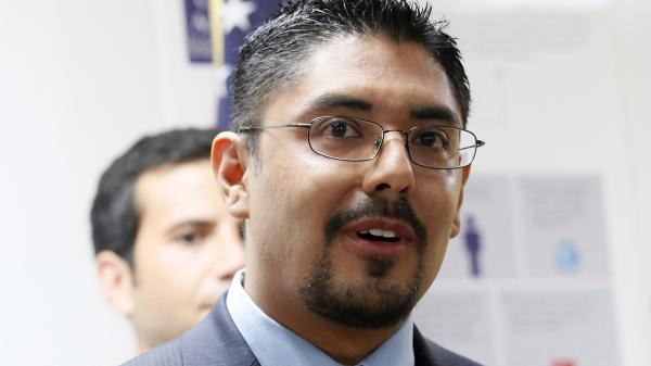 Sergio Garcia speaks at The Coalition for Humane Immigrant Rights of Los Angeles (CHIRLA) news conference on Aug. 27. Garcia, 36, is a law school graduate who passed California's bar examination, but he's living in the United States illegally. California State Bar officials have not issued him a lawyer's license because of his immigration status.