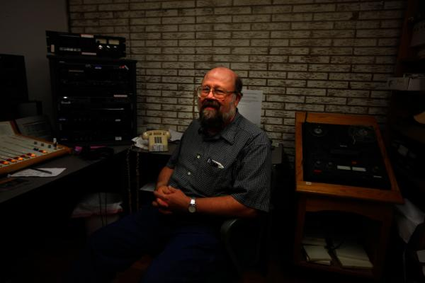 Chuck Niday is chief engineer at Allegheny Mountain Radio, which broadcasts to the 9,000 people in Pocahontas County, W.Va.