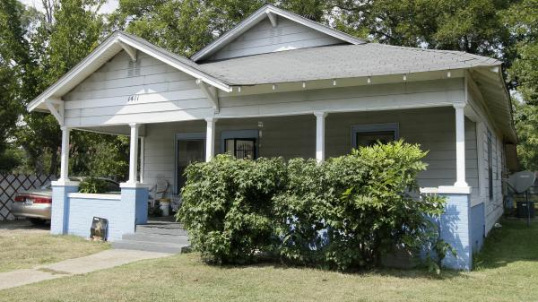 This house in  Pine Bluff, Ark., was the scene of a shootout Saturday evening, as Monroe Isadore, 107, held off police for hours before being killed. He had been approached about moving out, a roommate says.