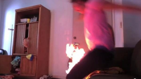 "Talk about hot pants: A screen image from the ""Worst Twerk Fail EVER"" video."