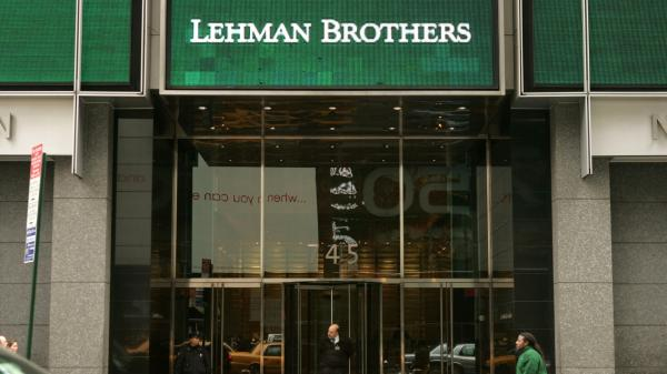 The headquarters of Lehman Brothers in Times Square in 2008, the year the financial services firm filed for bankruptcy.